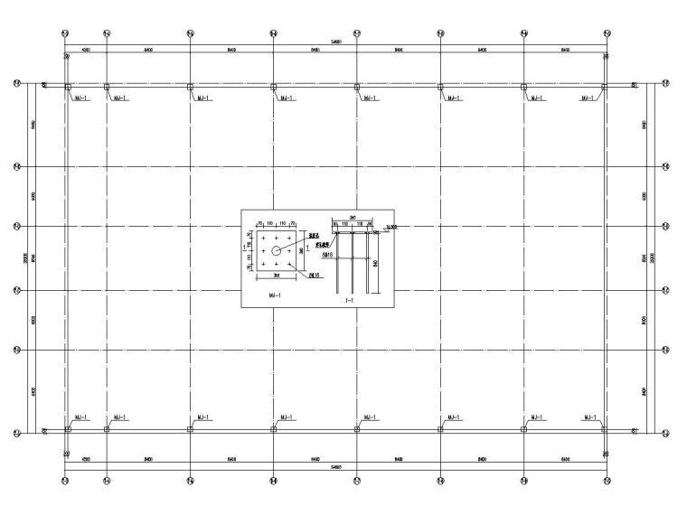 [浙江]螺栓球节点正放四角锥网架结构体育场屋面结构施工图