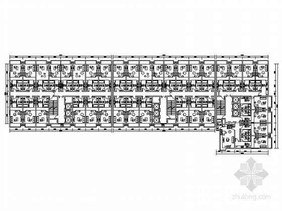 某一梯十四户LOFT酒店式公寓户型平面图(70、67平方米)