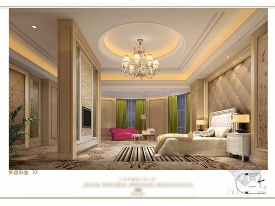[苏州]奢华欧式风格商务会所四层卧室休息区室内装修图(含效果) 卧室效果