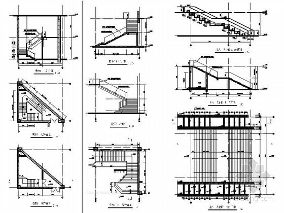 [上海]现代风格大学图书馆建筑施工图(甲级设计院含人防设计)-现代风格大学图书馆建筑大样图