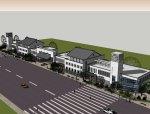 3层中式商业街su模型设计.skp