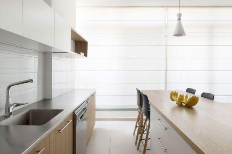 几何趣味80平纯净北欧风公寓设计_7