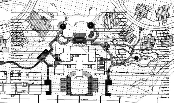 [湖南]人文之韵特色温泉度假山庄景观设计施工图(附方案文本+PDF施工图)