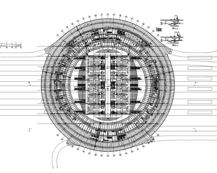 [上海]大型交通枢纽中心站房建筑给排水喷淋消防施工图