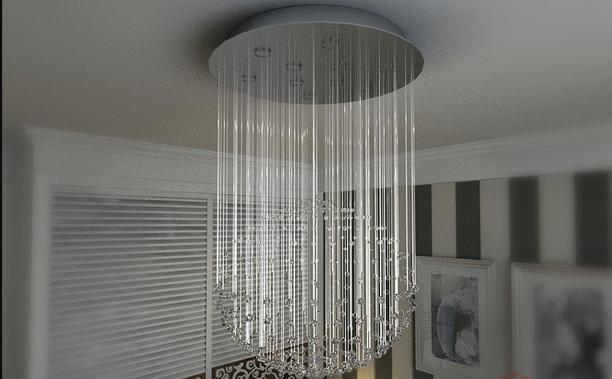 vr镜子材质参数资料下载-如何用3DMAX制作玻璃风格水晶灯