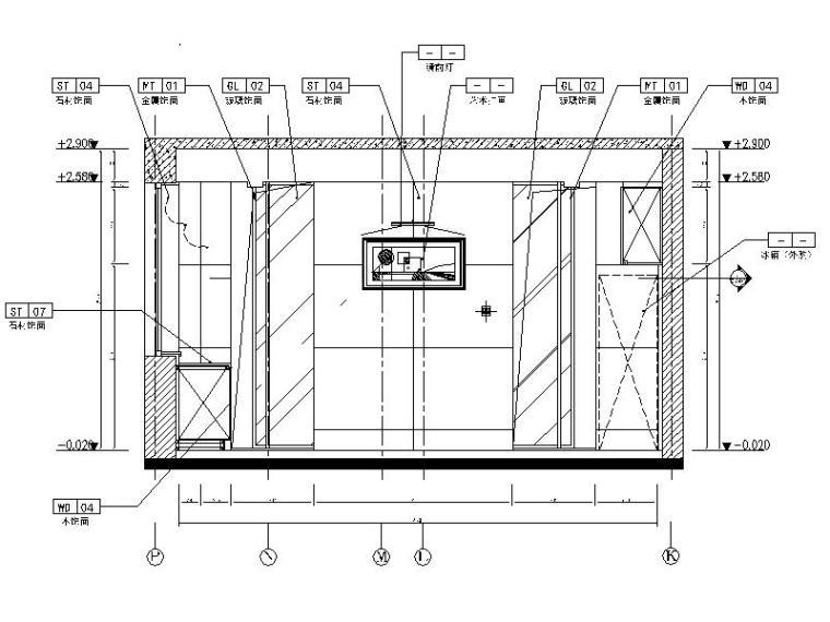 [石家庄]简约欧式典雅高贵样板房室内设计施工图(含实景图)-[石家庄]简约欧式典雅高贵样板房室内设计立面图