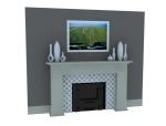 装饰壁炉3D模型下载