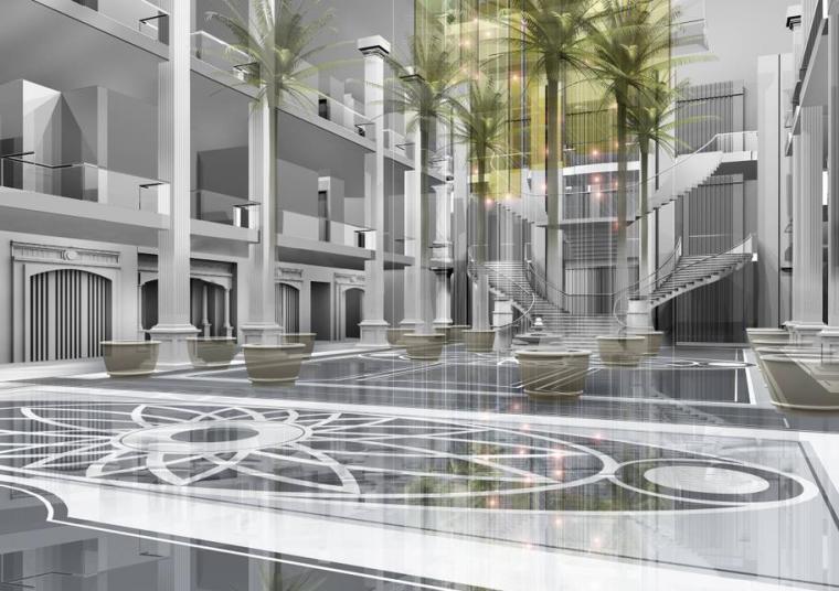 [江苏]一套完整的酒店平面概念设计方案(含效果图)_4