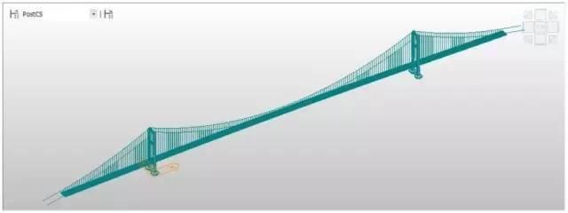 在迈达斯中如何得到合理的地锚式悬索的平衡状态