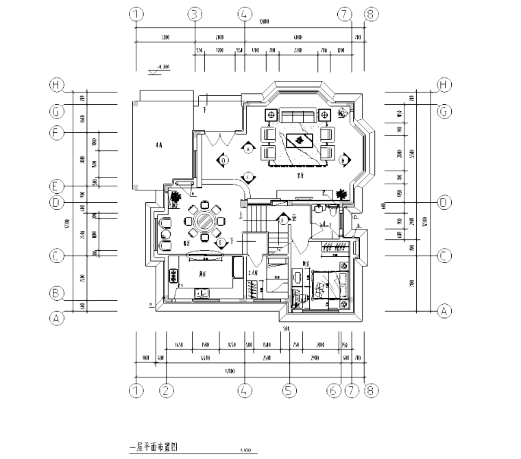 [上海]某别墅装修全套室内设计施工图