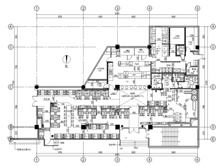 肯德基快餐店南京某分店内部装修施工图(附效果图)图片