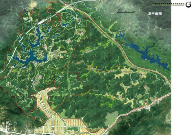 过账天鹿湖地区发展策划与城市设计项目-总平面图