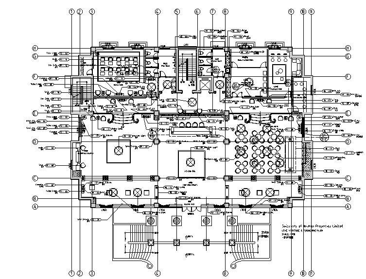 瑞城御园售楼处及会所设计施工图(附效果图+材料表)