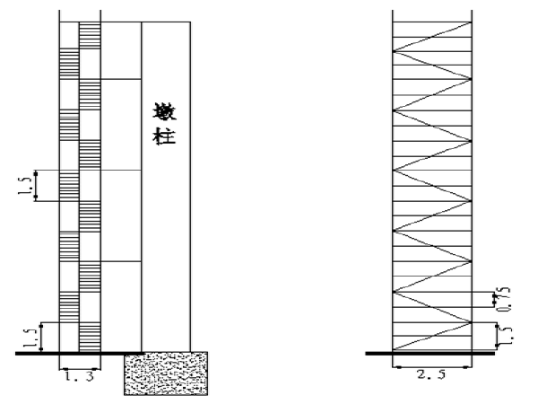 玉楚高速公路勘察试验段桥梁人行爬梯搭设技术交底