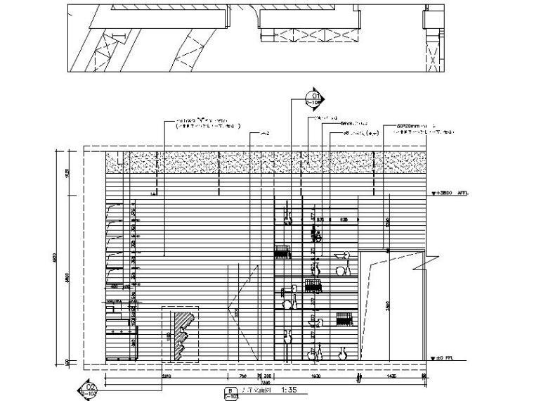 [新疆]富有文化气息而又时尚鲜活的餐厅设计施工图(含效果图)_6