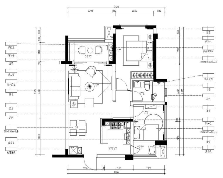 [郑州]郑东新区森林半岛精装样板间施工图设计(附效果图)