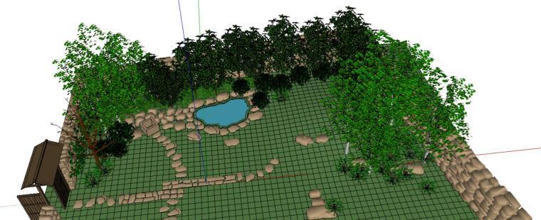 自然是庭院景观设计模型-场景二