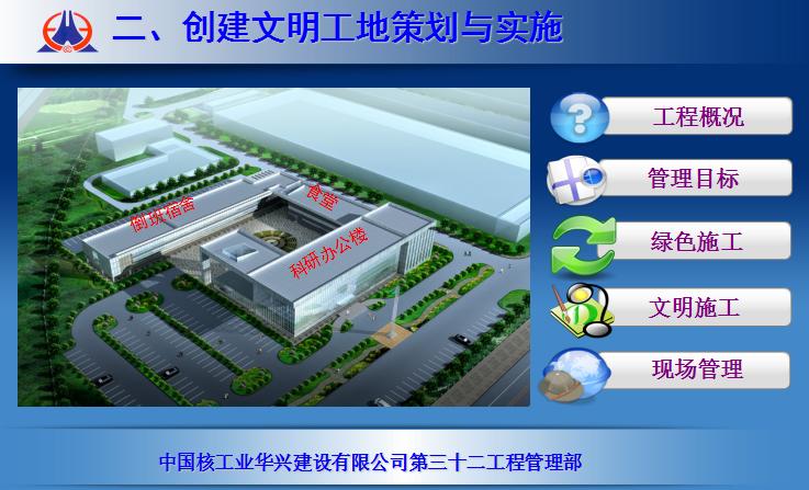 天拖综合服务楼项目文明工地汇报材料(42页)