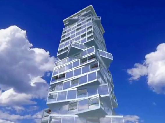 旋转大楼登录迪拜--装配式强势建筑界!