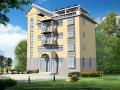 四层现代风格别墅建筑设计方案(包含CAD)
