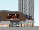 现代风格商业建筑商场模型设计