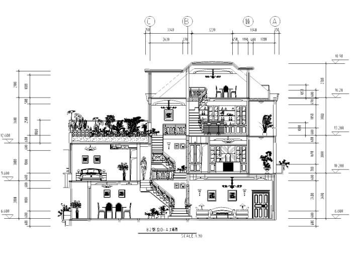 [山东]某欧式别墅室内设计施工图