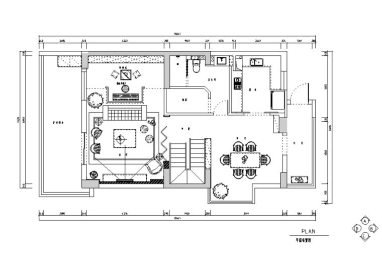 楼兰庭静舍简约小清新复式别墅设计施工图(附效果图)