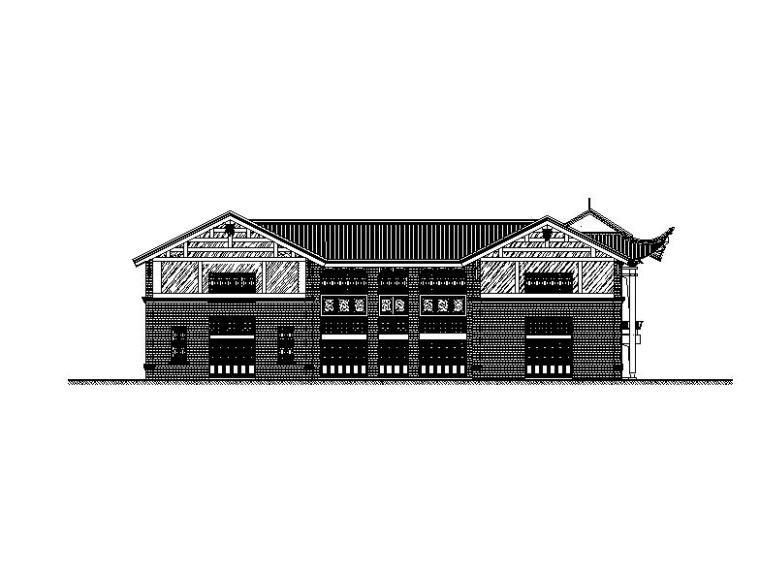 [武汉]两层古典风格框架结构综合性商业建筑施工图