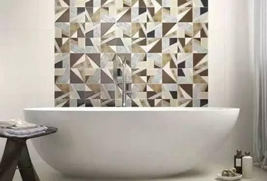 花样瓷砖拼贴 让你的卫生间颜值升高