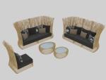 原生态藤编沙发3D模型下载