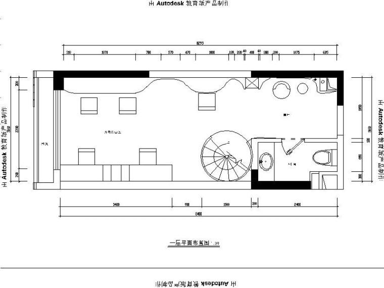 [广州]现代简约地产办公样板房室内设计施工图(含效果图)
