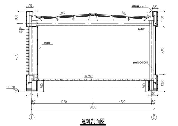 钢结构连廊结构施工图(CAD、12张)