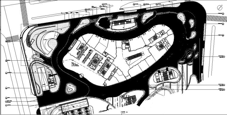 [北京]某大厦景观全套施工图设计(包含施工图、项目参数表、一审及二审意见)