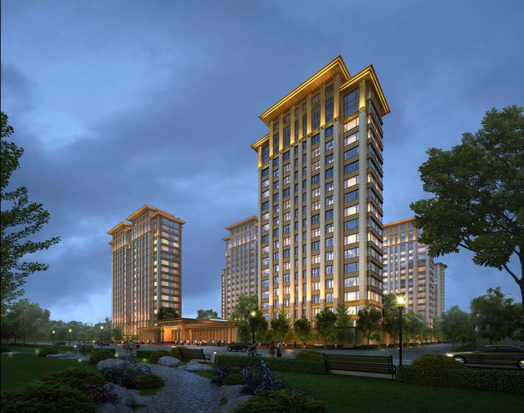 泰禾北京西府大院高层豪宅翰时建筑模型设计(2018年)