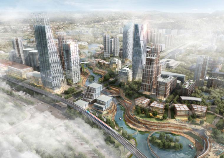 [重庆]超高层甲级写字楼及SOHO办公、商业建筑设计方案文本