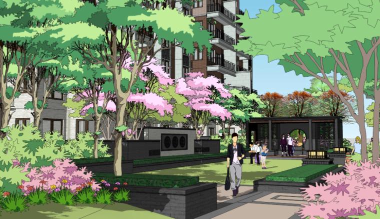 [河南]东方休闲主义居住区景观设计深化方案
