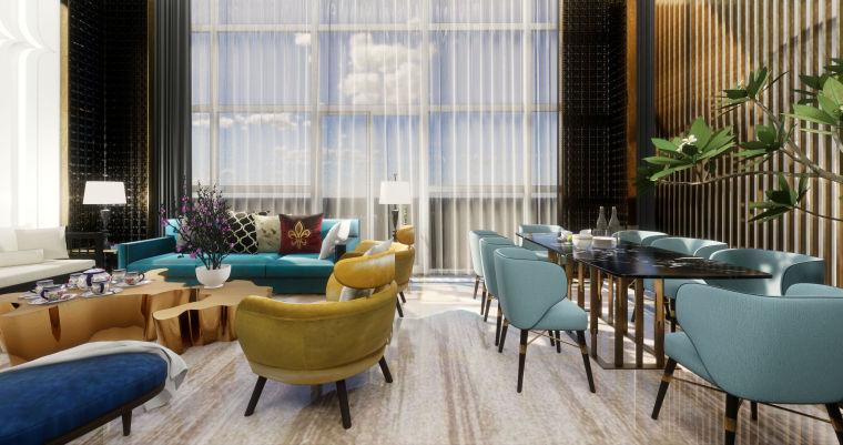 豪华loft室内设计客餐厅模型设计(2018年)-X 11