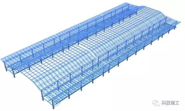 大跨度拱形钢结构施工技术研究