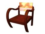 老式椅子3D模型下载