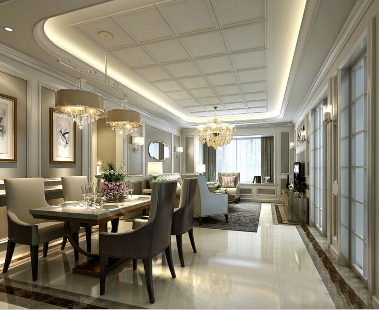 [杭州]欧式两居样板间室内设计施工图(含效果图+实景图)_6