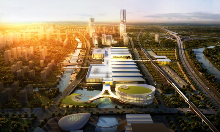 全国7大会展中心设计合集(实景图+效果图)-08-绍兴国际会展中心效果图