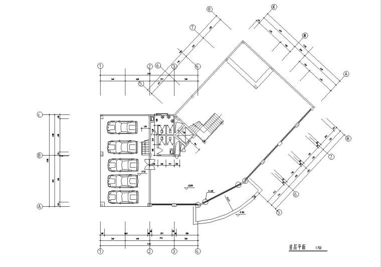 3套现代宾馆酒店建筑设计施工图CAD_2