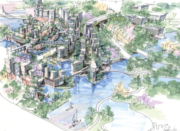 [四川]成都麓湖一期湖区景观设计方案