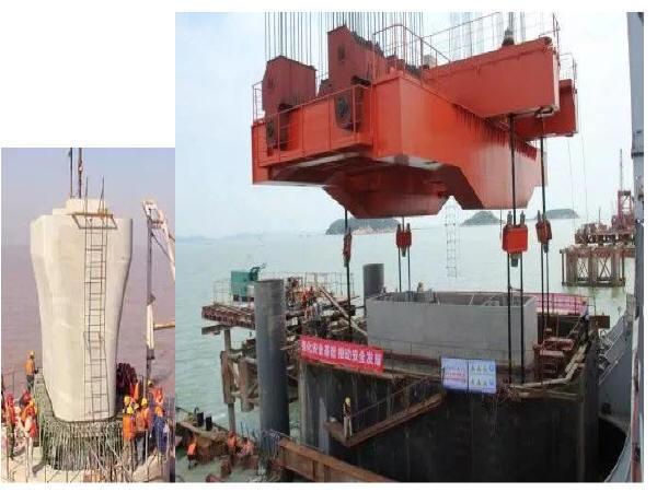 从索塔到墩台的装配式桥梁施工全过程