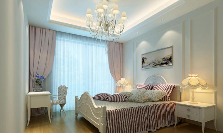 欧式风格独栋别墅设计整套CAD施工图(含效果图)效果图