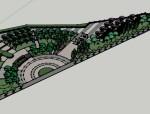 休闲街心公园景观规划设计(SU模型)