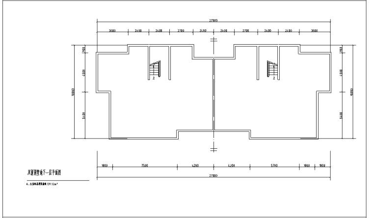 两层510平方米双拼别墅室内设计CAD图纸及SU模型