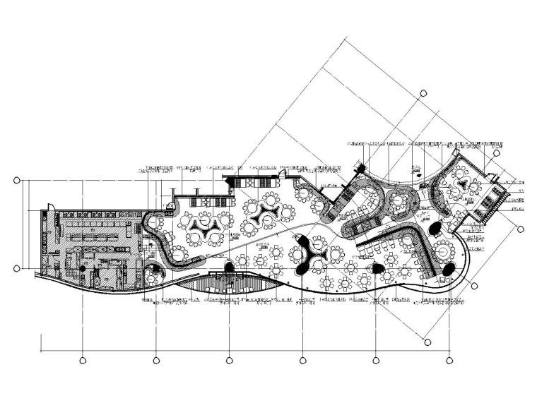 [杭州]混搭风格餐厅装修施工图(附效果图+实景照片)