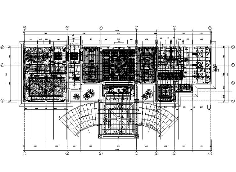 现代风格上市集团高档会所设计施工图(附效果图)