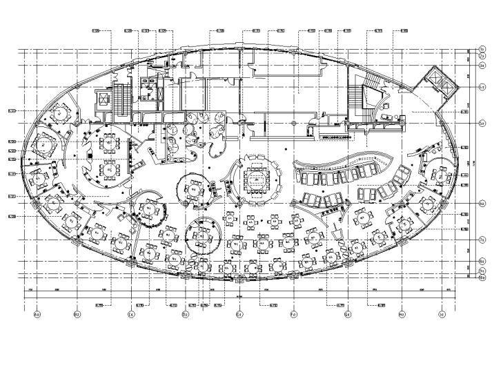 [浙江]新中式风格食府室内装修全套施工图及实景图